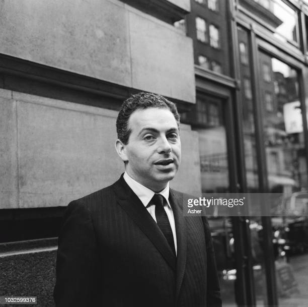 American comedian Jackie Mason pictured during a visit to London on 18th April 1963.