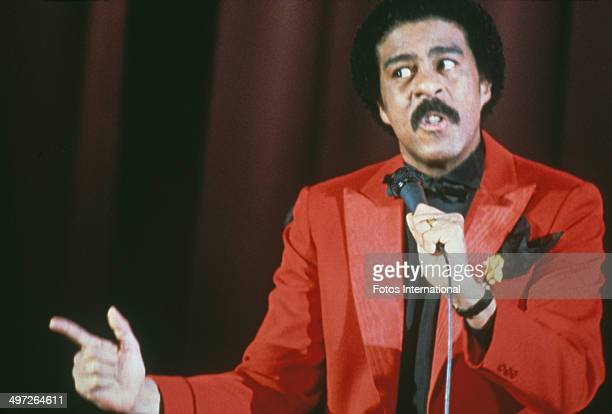 American comedian Richard Pryor during a stage show circa 1977