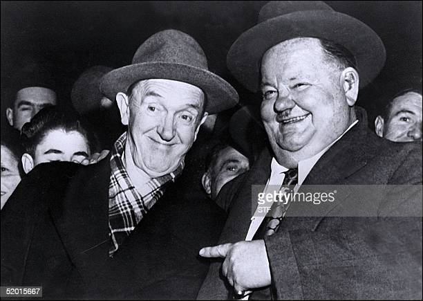 American comedians Oliver Hardy and Stan Laurel shown in an undated and unlocated photo