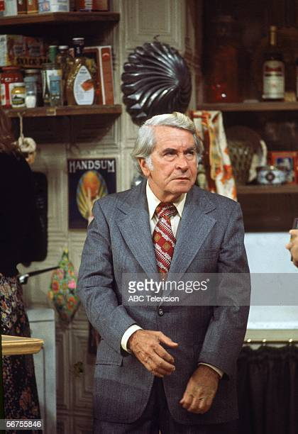 American comedic actor John Sylvester White as principal Michael Woodman acts in a scene from the television situation comedy 'Welcome Back Kotter'...