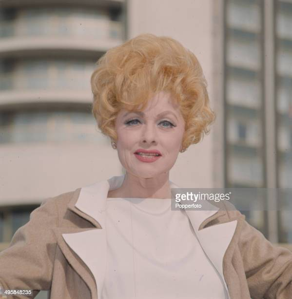 American comedienne and actress Lucille Ball posed in London in 1966