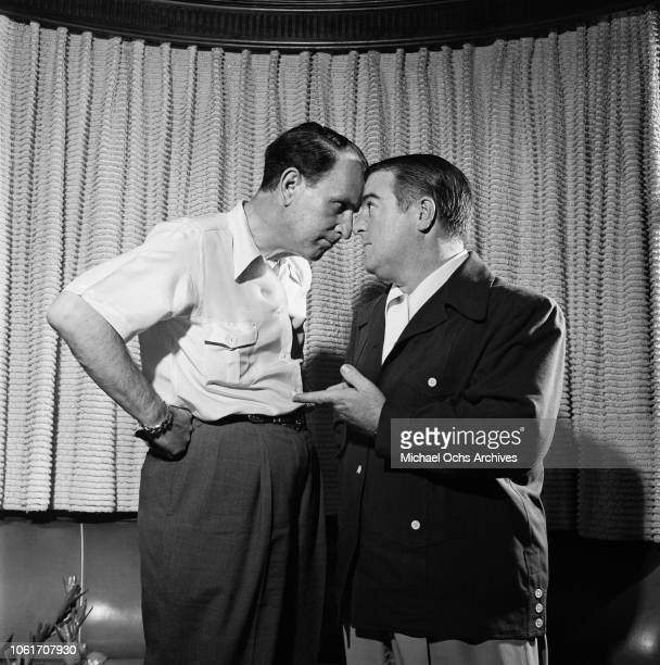 American comedy duo Abbott and Costello in Los Angeles 1947