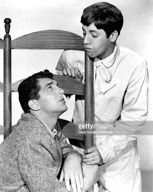 American comedy duo Dean Martin and Jerry Lewis circa 1955
