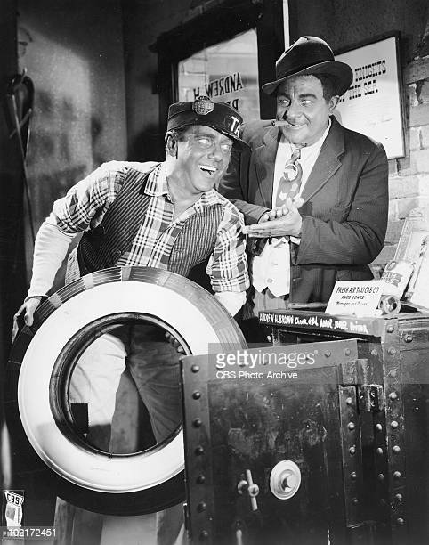 American comedy duo Freeman Gosden , as Amos, and Charles Correll as Andy, in a promotional photo for the Amos 'n' Andy radio sitcom, circa 1940.