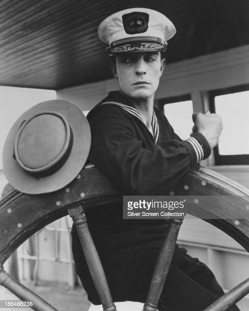 American comic actor and filmmaker Buster Keaton as Rollo Treadway in 'The Navigator' directed by Keaton and Donald Crisp 1924