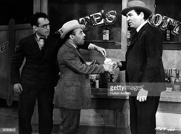 American comic actor Harold Lloyd whose popularity at times rivalled Charlie Chaplin's appears in a scene from 'Professor Beware' directed by Elliott...