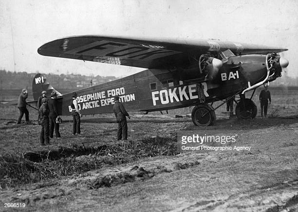 American Commander Richard Byrd's Fokker F Vlla3m trimotor 'Josephine Ford' the first plane to cross the North Pole