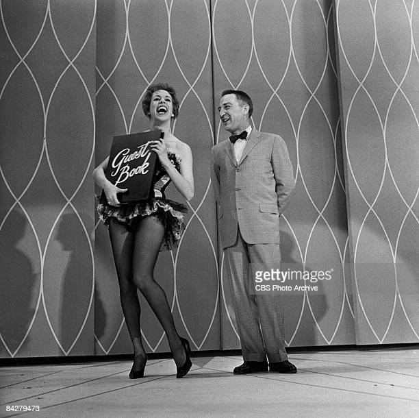 American commedienne Carol Burnett and television show host Garry Moore perform together on an episode of 'The Garry Moore Show' New York New York...
