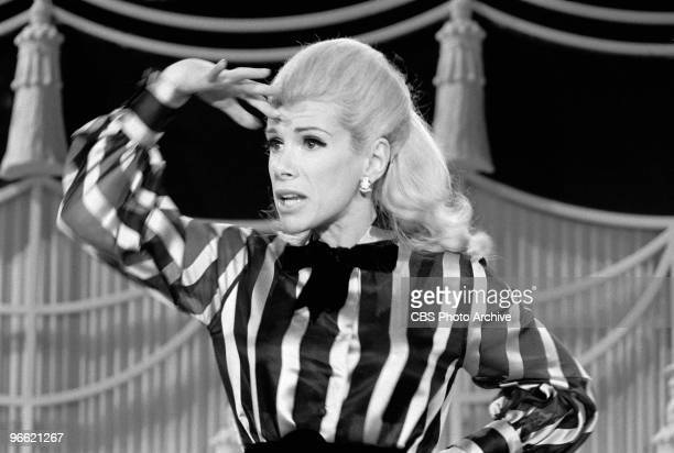 American commedienne Joan Rivers on an episode of the television comedy & variety program 'The Carol Burnett Show,' Los Angeles, California,...