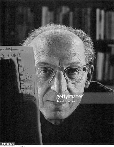 American composer Aaron Copeland poses for portrait May 19 1959 in Peekskill New York He is best known for the pieces 'Appalachiian Spring' and...