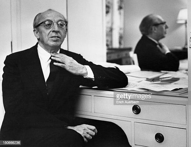 American composer Aaron Copland 4th October 1965