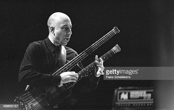 American composer and musician Elliott Sharp performs at the jazzmarathon in the Oosterpoort in Groningen, the Netherlands on 10th December 1988.