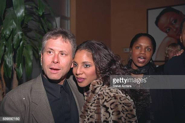 American composer and pianist Alan Menken and singer Toni Braxton at 'Beauty and the Beast'