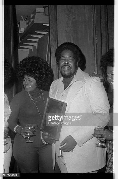 American composer and singersongwriter Barry White London1974