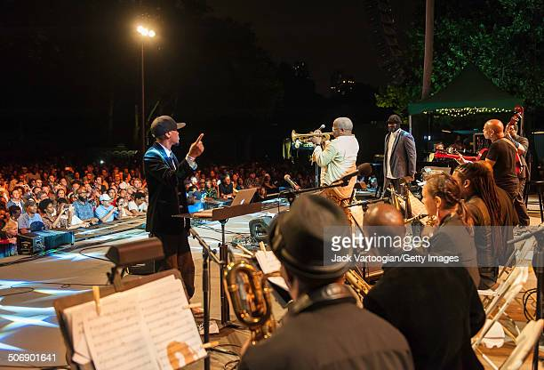 American composer arranger and musician Igmar Thomas leads the Revive Big Band at a dual celebration of Blue Note's 75th anniversary and Okayplayer's...