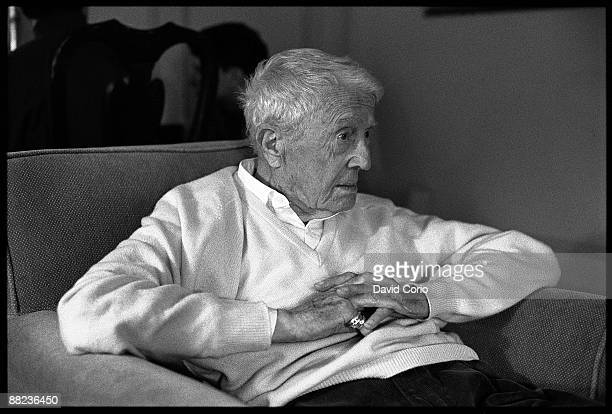 American composer author and translator Paul Bowles poses for a portrait at the Mayfair Hotel on September 17 1995 in London England