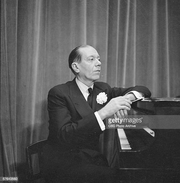American composer Cole Porter sits at the piano on Ed Sullivan's 'Toast of the Town' New York New York February 24 1952