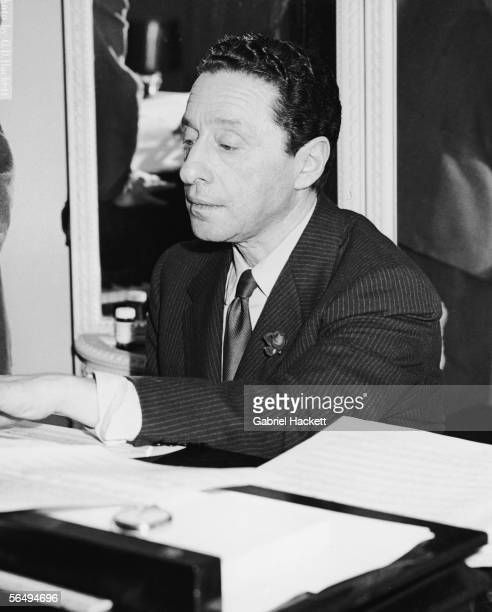 American composer Harold Arlen works on a composition on a piano 1965 Arlen along with his songwriting partner Ted Koehler wrote shows for the Harlem...