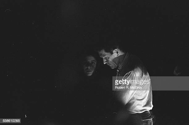 American composer John Cage performs his 'Variations VII' piece during '9 Evenings: Theatre & Engineering' at the 69th Regiment Amory , New York, New...