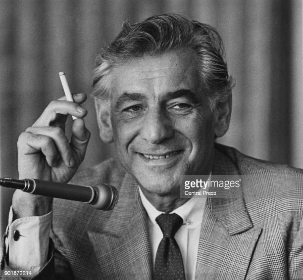 American composer Leonard Bernstein holds a press conference at the Royal Festival Hall in London 20th February 1970 He will be conducting the London...