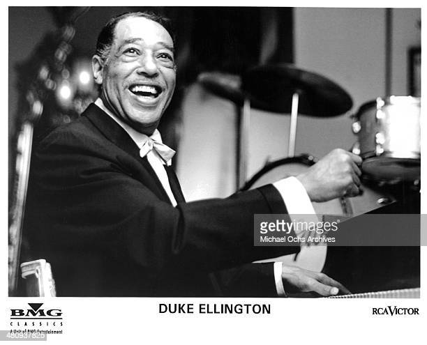 American composer pianist and bandleader Duke Ellington poses