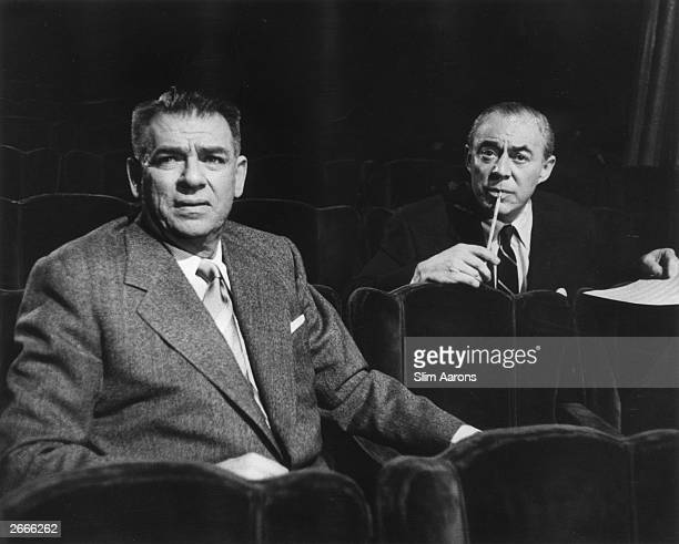 American composer Richard Rodgers and lyricist Oscar Hammerstein collaborators on the Broadway musicals 'Oklahoma 'The Sound of Music' and 'The King...