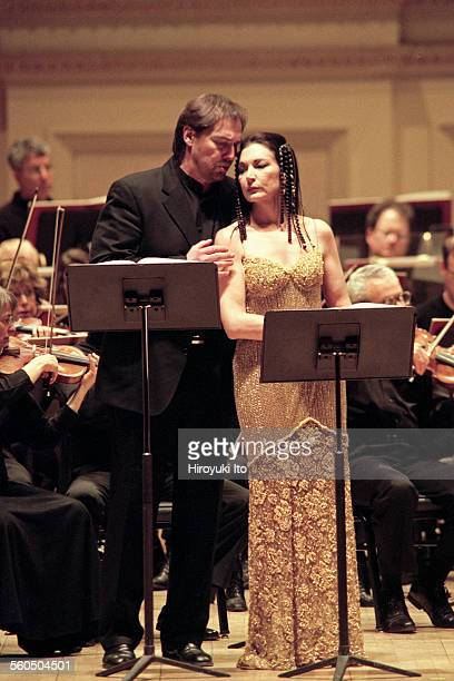 """American Composers Orchestra performing Samuel Barber's ''Antony and Cleopatra"""" at Carnegie Hall on Sunday afternoon, April 6, 2003.This image:Louis..."""