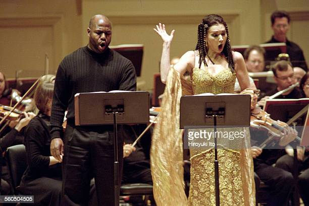 """American Composers Orchestra performing Samuel Barber's ''Antony and Cleopatra"""" at Carnegie Hall on Sunday afternoon, April 6, 2003.This image:Arthur..."""