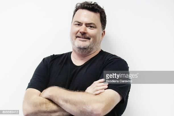 American computer game designer Tim Schafer poses during the Milan Games Week 2017 on September 29 2017 in Milan Italy