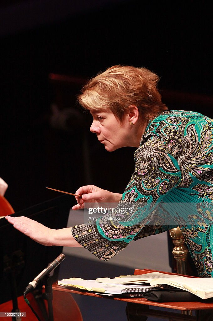 BBC Proms 45: Marin Alsop Conducts Sao Paulo Symphony Orchestra With Pianist Nelson Freire - Rehearsal : News Photo