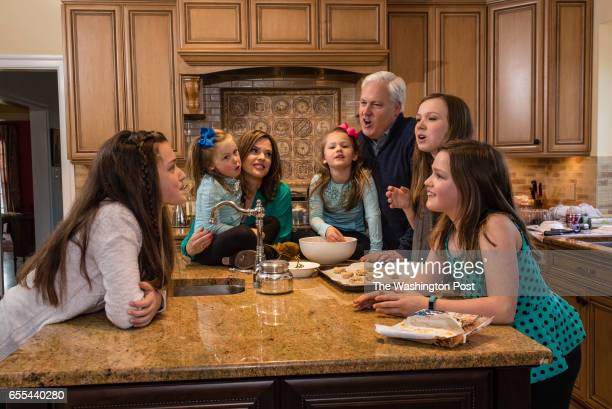 American Conservative Union Chairman Matt Schlapp and his wife and political commentator Mercedes Schlapp with their kids Kids from left Caterina...