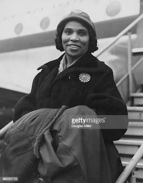 American Contralto Marian Anderson Arriving At London Airport After A Visit To Sweden 3rd October 1952