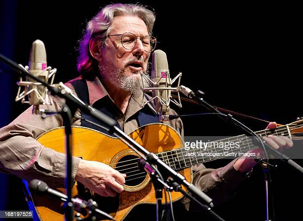 American country and folk musician Norman Blake performs on stage as part of the Great High Mountain Tour at the Beacon Theater New York New York May...