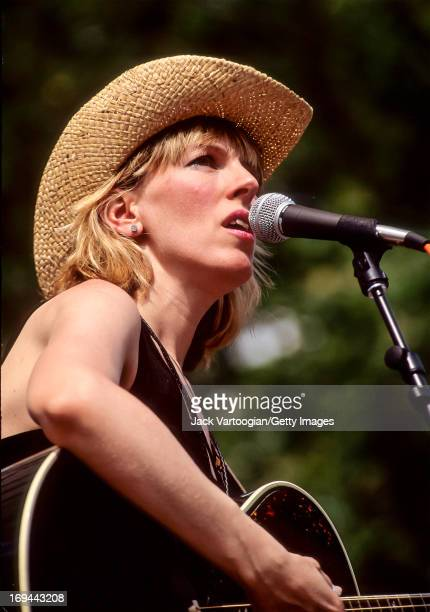 American country and folk singer musician Lucinda Williams performs at Central Park SummerStage New York New York June 27 1992
