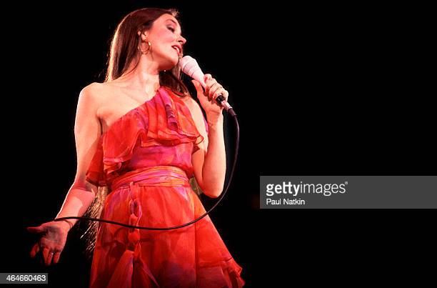 American country and pop musician Crystal Gayle performs onstage at the Rosemont Horizon Rosemont Illinois April 15 1983