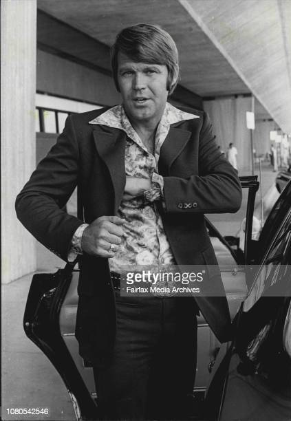 American country and western singer Glen Campbell pictured on his arrival at *****Glen Campbell Mr Campbell who after a couple of films including...