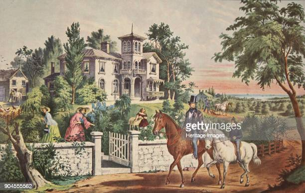 American Country Life May Morning pub 1855 Currier Ives