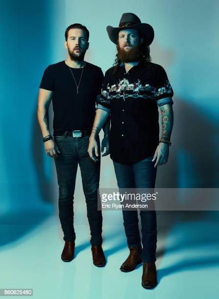 American country music duo Brothers Osborne TJ and John Osborne are photographed at the 2017 CMA Festival for Billboard Magazine on June 8 2017 in...