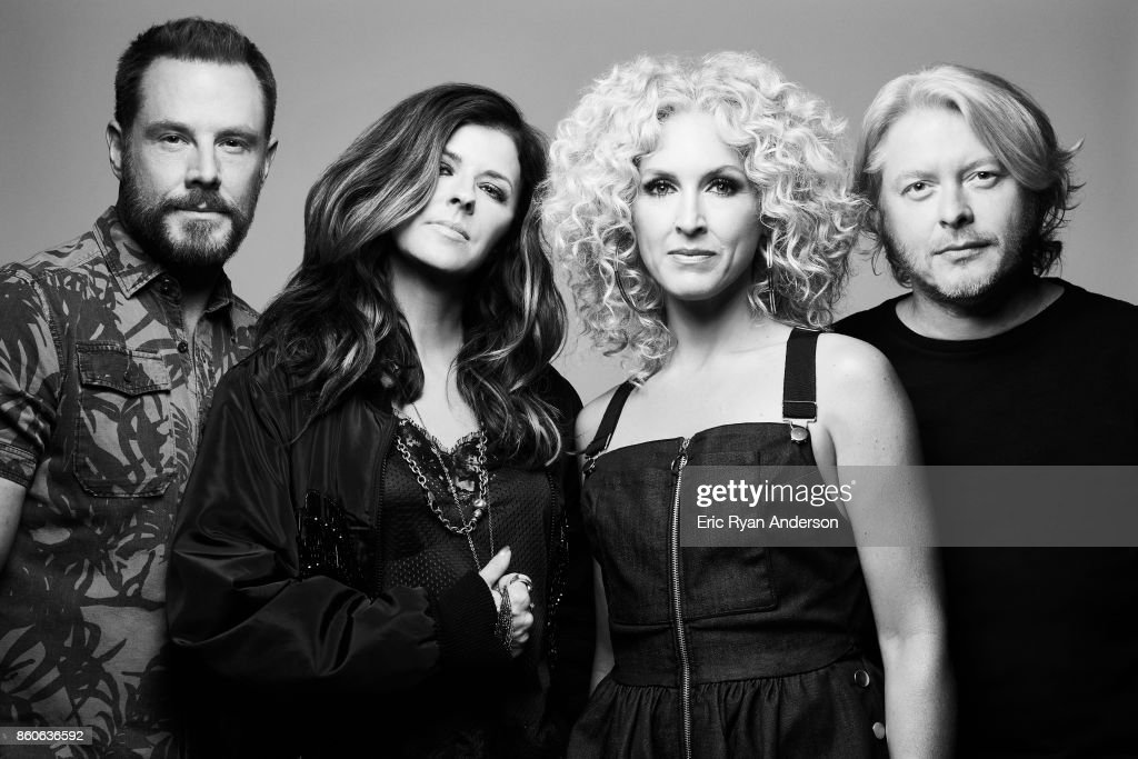 American country music group Little Big Town, Karen Fairchild, Kimberly Schlapman, Jimi Westbrook, and Phillip Sweet, are photographed at the 2017 CMA Festival for Billboard Magazine on June 8, 2017 in Nashville, Tennessee.