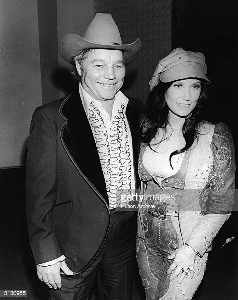 American country music singer and guitarist Loretta Lynn and her husband Oliver Lynn Jr at the Country Western Music Awards Hollywood California...