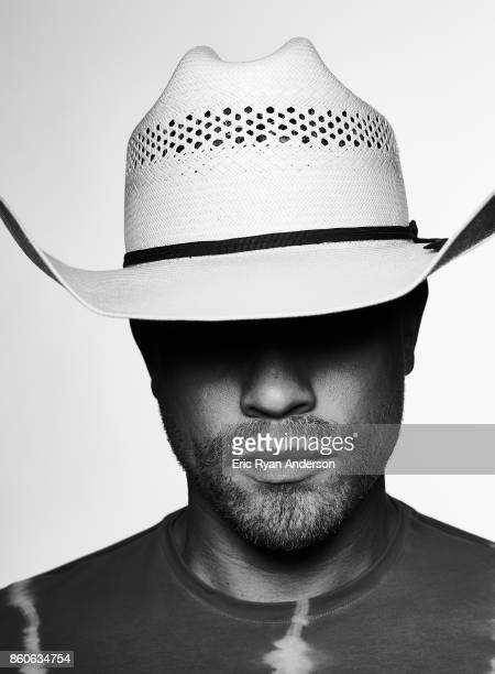 American country music singer and songwriter Dustin Lynch is photographed at the 2017 CMA Festival for Billboard Magazine on June 8 2017 in Nashville...