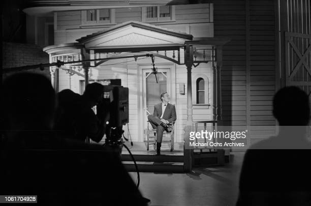 American country music singer and television host Jimmy Dean on the set of 'The Jimmy Dean Show' USA 13th November 1964