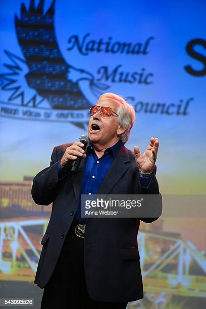 American country music singer John Conlee performs during the 33rd Annual American Eagle Awards at Music City Center on June 25 2016 in Nashville...