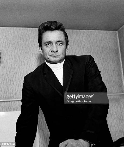American country music singer songwriter and guitarist Johnny Cash