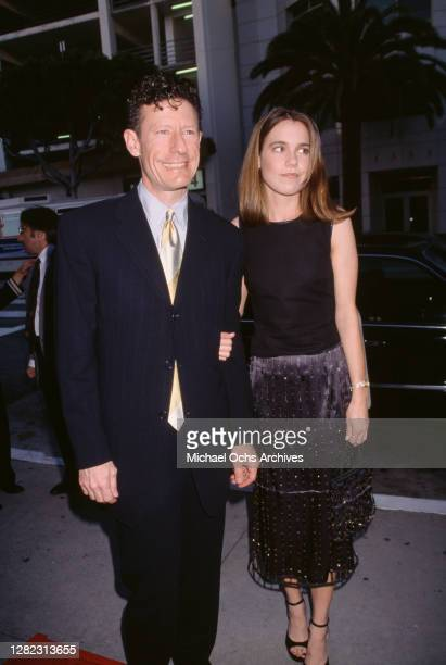 American country music singer-songwriter Lyle Lovett and girlfriend April Kimble attend the premiere of 'The Opposite of Sex', held at Sony Village...