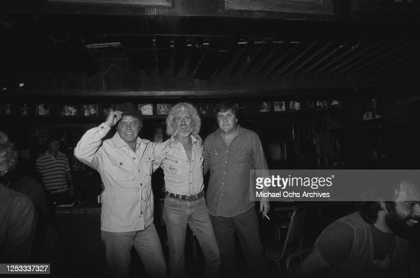 American country music songwriter Tom T Hall at the Palomino Club in North Hollywood, California, during a party for the film 'Any Which Way You...