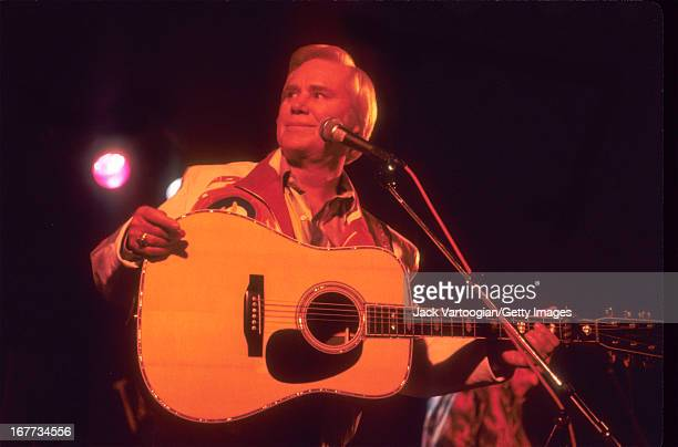 American country music star George Jones performs at Tramps New York New York Thursday November 12 1992