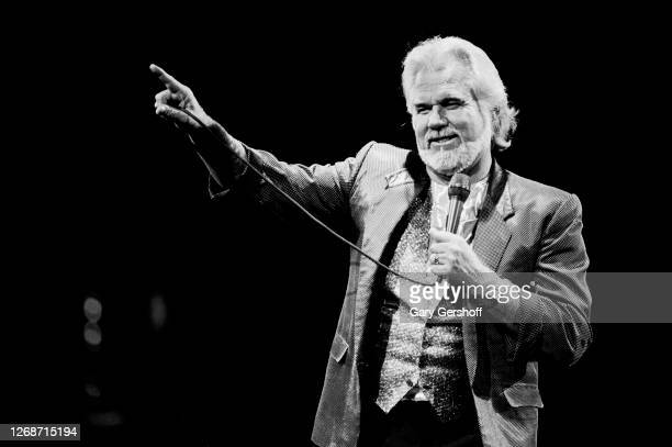 American Country musician Kenny Rogers performs onstage at Brendan Byrne Arena , East Rutherford, New Jersey, October 20, 1988.