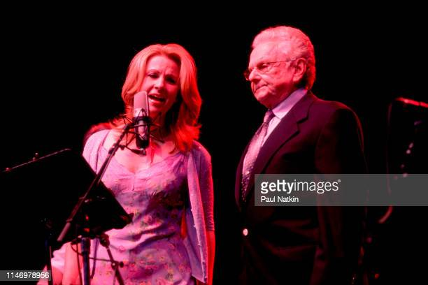 American Country musician Patty Loveless and Bluegrass musician Ralph Stanley perform onstage at the Chicago Opera House Chicago Illinois July 22 2002
