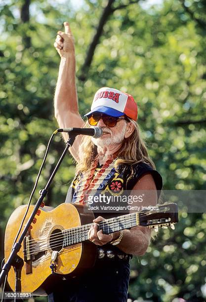 American country musician Willie Nelson performs with the Highwaymen at Central Park SummerStage New York New York May 23 1993